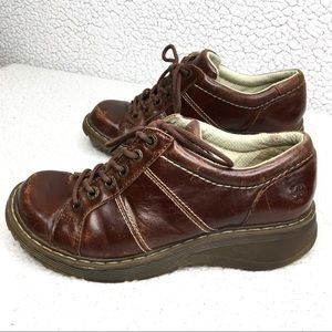 Dr Doc Martens Brown Leather Bailey Oxfords Shoes